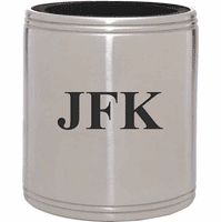 Personalized Silver Insulated Can Holder