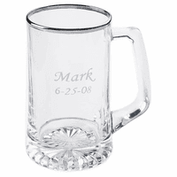 Personalized Silver Rimmed 25 Ounce Sports  Mug - Discontinued