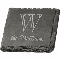 Personalized Slate Drink Coaster Set