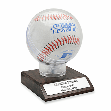 Personalized Souvenir Baseball Holder