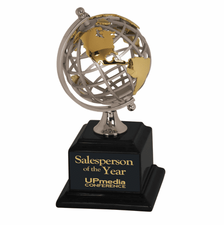 Personalized Spinning Globe Award