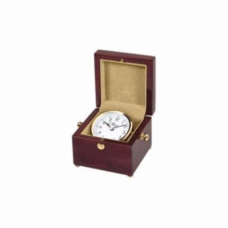 Personalized Square Style Chest Clock with White Rotating Dial