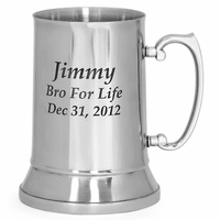 Personalized Stainless Steel Beer Mug - 20 Ounces - Discontinued
