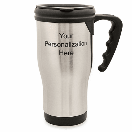 Personalized Stainless Steel Travel Coffee Mug With Handle