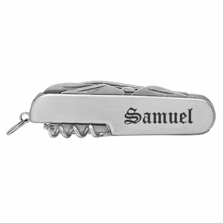 Personalized Steel Pocket Knife