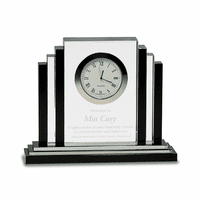 Personalized Step Design Premier Crystal Clock