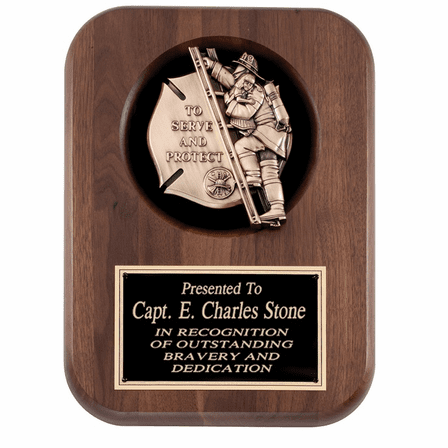 Personalized To Serve And Protect Firefighter's Plaque