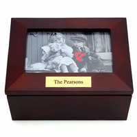Personalized Treasure Box With Framed Lid