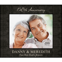 "Personalized True Love Anniversary  8"" x 10"" Picture Frame"