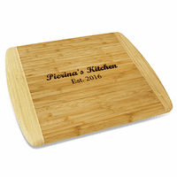 Personalized Two Tone Bamboo Cutting Board - Large