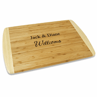 Personalized Two Tone Bamboo Cutting Board - Small