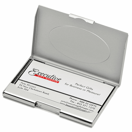 Personalized Two Tone Business Card Holder