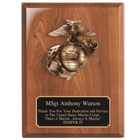 Personalized US Marine Corps Emblem Plaque