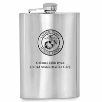 Personalized US Marines Flask