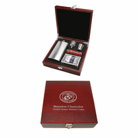 Personalized US Marines Flask & Gaming Set