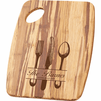 Personalized Utensils Theme Tiger Wood Cutting Board