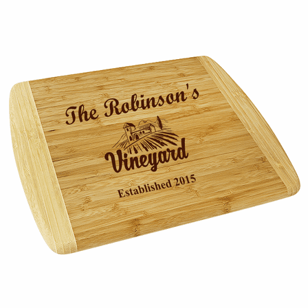 Personalized Vineyard Large Two Tone Cutting Board