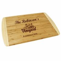 Personalized Vineyard Two Tone Cutting Board