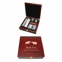 Personalized Wall Street Flask & Gaming Set