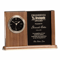 Personalized Walnut Award Clock-dis