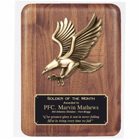 Personalized Walnut Eagle Plaque
