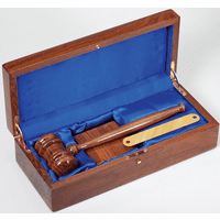 Personalized Walnut Gavel & Sounding Block Gift Set