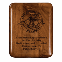 Personalized Walnut Plaque With Rounded Corners - Discontinued