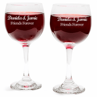 Personalized Wine Glass Set of 2