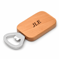 Personalized Wood Handle Magnetic Bottle Opener