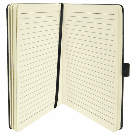 Personalized Writing Journal with Black Cell Phone & Card Slot