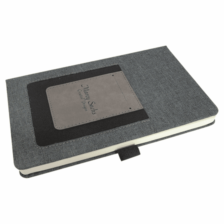 Personalized Writing Journal with Gray Cell Phone & Card Slot