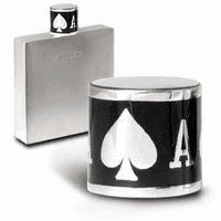 Pewter Flask with Ace of Spades Cap - Discontinued