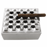 Pewter Square Grid Ashtray