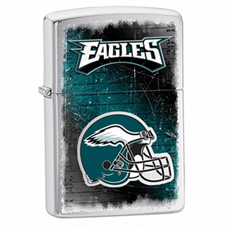 Philadelphia Eagles NFL Brushed Chrome Zippo Lighter - ID# Z722