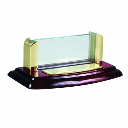 Piano Finish Desktop Business Card Holder