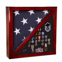 Piano Finish Flag & Medal Display Case