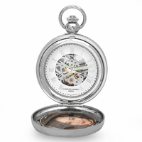 Picture Frame Mechanical Pocket Watch & Chain by Charles Hubert #3845 - Discontinued
