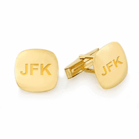 Pillow Collection 14 Karat Gold Engravable Cufflinks - Discontinued