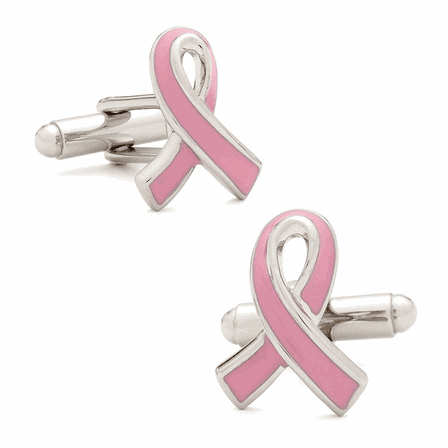 Pink Breast Cancer Awareness Cufflinks