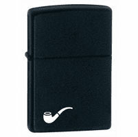 Pipe Lighter Black Matte Zippo Lighter - ID# 218PL