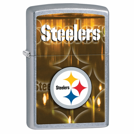 Pittsburgh Steelers NFL Brushed Chrome Zippo Lighter - ID# 28612