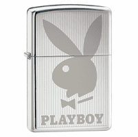 Playboy Bunny Vertical High Polish Chrome Zippo Lighter - ID# 24308