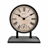 Plymouth Tabletop Clock By Bulova - Discontinued
