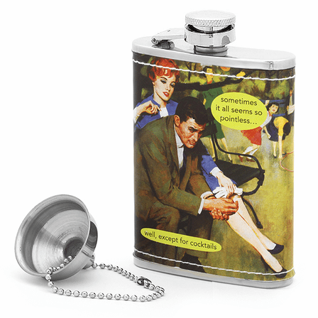 Pointless Except For Cocktails Flask by Anne Taintor - Executive Gift Shoppe