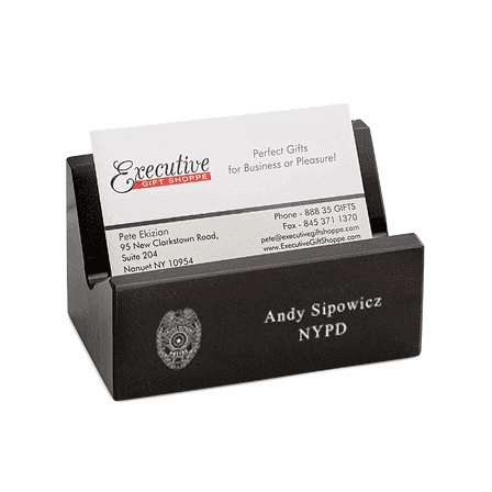 Police Badge Desktop Business Card Holder