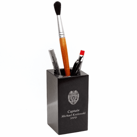 Police Badge Desktop Pen & Pencil Cup