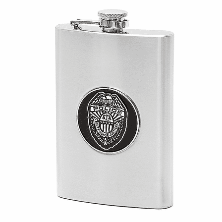 Police Department Themed Flask
