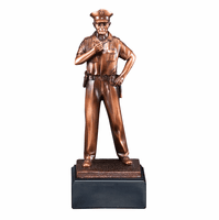 Police Officer At The Ready Personalized Award