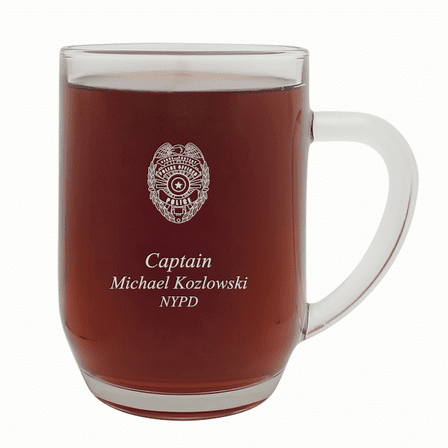 Police Officer's Personalized  20 Ounce Barrel Mug with Handle