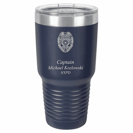 Police Officer's Personalized 30 Ounce Polar Camel Tumbler